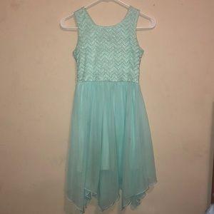 mint green homecoming dress